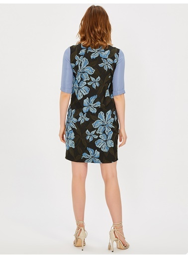Vekem-Limited Edition Elbise Mavi